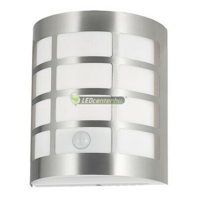 SEVILLA inox kültéri fali lámpa 1xE27, IP44, mozgásérzékelővel