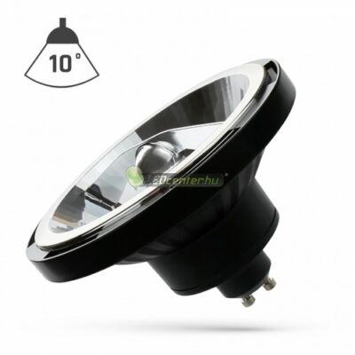 LED AR111/ES111 GU10 230V 15W 10° melegfehér szpot, fekete