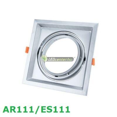 AR111/ES111 billenthető lámpatest, matt ezüst, szimpla, 180x180mm