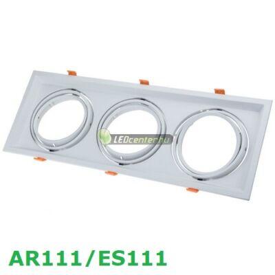 AR111/ES111 billenthető lámpatest, fehér, tripla, 480x180mm
