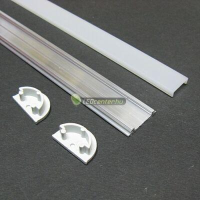 ARC LED aluprofil 2000 mm, fedővel, záróvégekkel