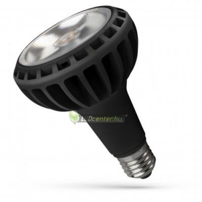 Spectrum PAR 20W 2000 lumen E27 LED fekete reflektorizzó, természetes fehér