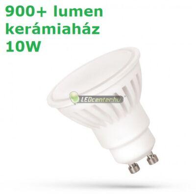 Spectrum 10W Premium 100° GU10/230V 910 lumen kerámiaházas LED szpot melegfehér 2évG