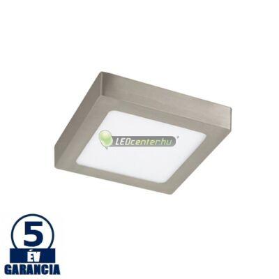 LOIS LED 12W négyzet szatén króm mennyezeti lámpa, melegfehér 5évGar