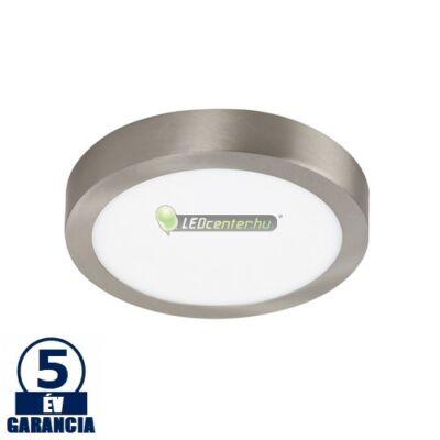 LOIS LED 18W kerek szatén króm mennyezeti lámpa, melegfehér 5évGar