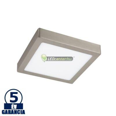 LOIS LED 18W négyzet szatén króm mennyezeti lámpa, melegfehér 5évGar