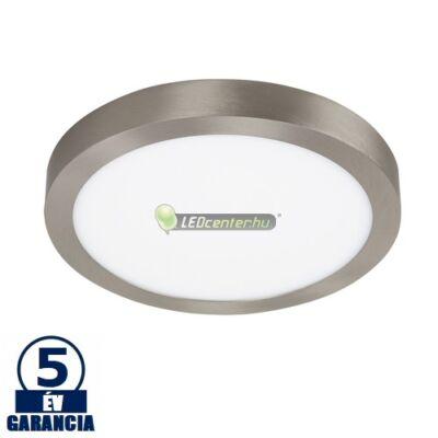 LOIS LED 24W kerek szatén króm mennyezeti lámpa, melegfehér 5évGar