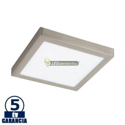 LOIS LED 24W negyzet szatén króm mennyezeti lámpa, melegfehér 5évGar