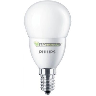 PHILIPS CorePro 4W=25W E14 LED FR kisgömb égő, melegfehér
