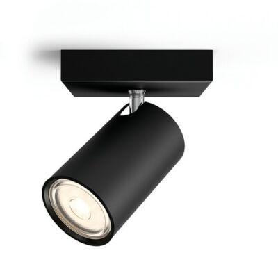 Philips KOSIPO fekete egyes billenthető lámpatest GU10/230V aljzat