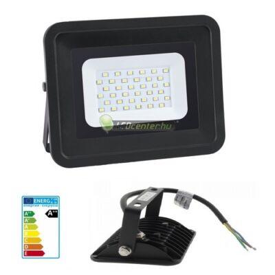 SLIM2 fekete LED reflektor, fényvető, 30W/230V, melegfehér, 2évG
