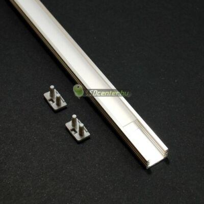 SLIM LED aluprofil 1000 mm, fedővel, záróvégekkel