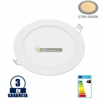 INTI 12W=96W kerek fehér LED mennyezeti lámpa melegfehér 3évGar