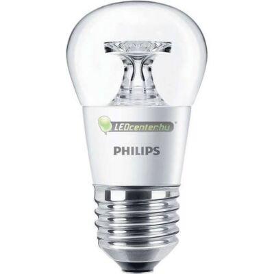 PHILIPS 5,5W=40W E27 P45 CL 470 lumen melegfehér LED minigömb