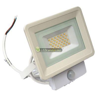 SLIM2 fehér LED reflektor, mozgásérzékelős, 30W/230V, melegfehér