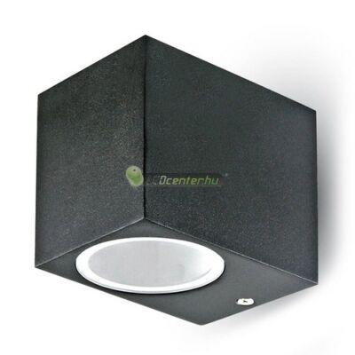 Negro-1 alumínium szögletes fekete kültéri fali lámpa 1xGU10, IP44