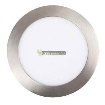 LOIS 12W kerek szatén króm LED mennyezeti lámpa melegfehér 2évG