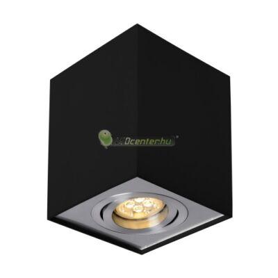 CHLOE GU10/230V elegáns, szögletes fekete billenthető mennyezeti lámpatest