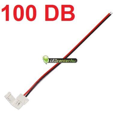 8 mm-es LED szalaghoz forrasztásmentes betáp vezeték, 100 db