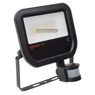 OSRAM© LEDVANCE reflektor 50W fekete, természetes fehér, mozgásérzékelős 3évGar