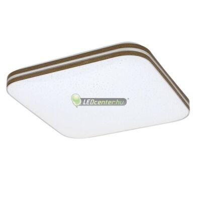 OSCAR LED 18W fehér/dió négyzet mennyezeti lámpa, csillagos effekt, melegfehér 5évG