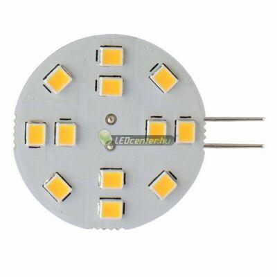 SOLIS G4/12V 12 SMD2835 LED, oldalsó lábakkal, melegfehér