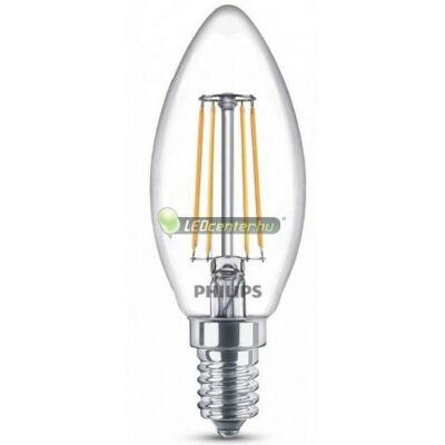 PHILIPS CLASSIC 4W=40W E14 LED gyertyaégő, melegfehér