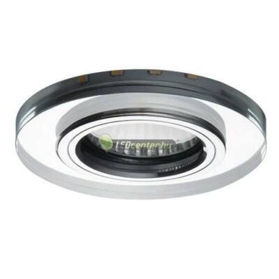 SOREN üveg/fém kerek GU10 lámpatest +beépített hangulatvilágítás