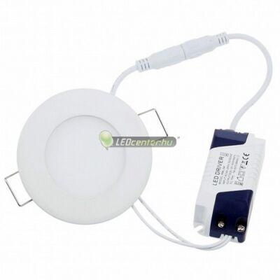 INTI 6W=60W kerek fehér LED mennyezeti lámpa melegfehér 3évGar