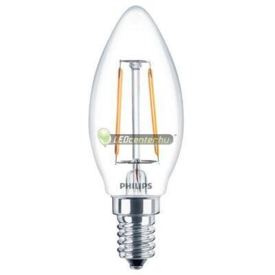 PHILIPS CLASSIC 2W=25W E14 LED gyertyaégő, melegfehér