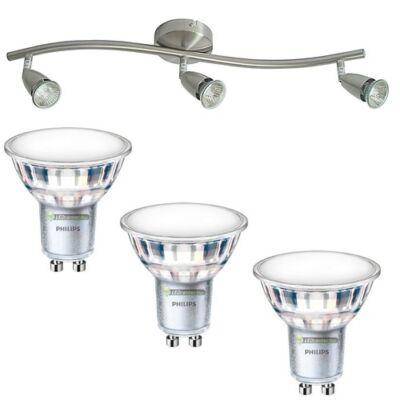 NORMAN-3 lámpatest és 3 Philips 5W=50W 120° melegfehér LED szpot