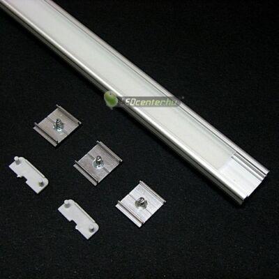 SURFACE LED aluprofil 2000 mm, fedővel, záróvégekkel, rögzítővel