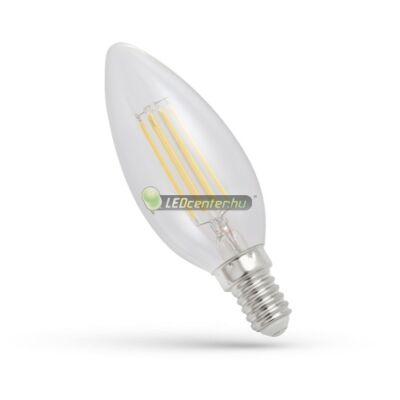 Spectrum Premium Clear COG 4W=39W E14 LED gyertya, melegfehér