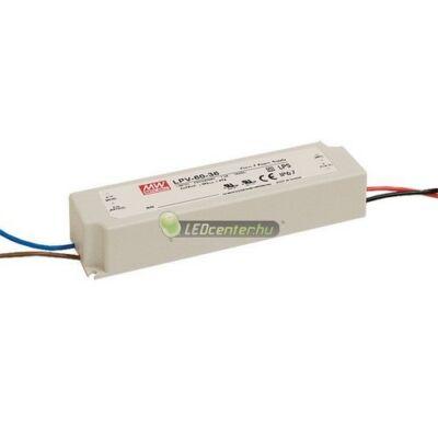 LPV-60-12 MEAN WELL stabilizált LED tápegység, 60W, 230V/DC12V