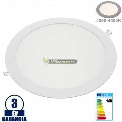INTI 24W=192W kerek fehér LED mennyezeti lámpa természetes fehér 3évGar