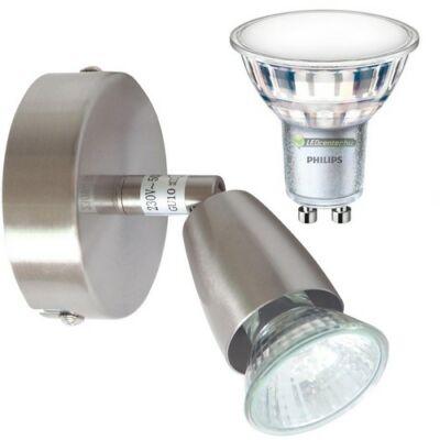 NORMAN-1 lámpatest és Philips 5W=50W 120° melegfehér LED szpot