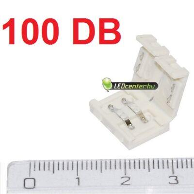 8 mm-es LED szalaghoz forrasztásmentes toldóelem, 100 db