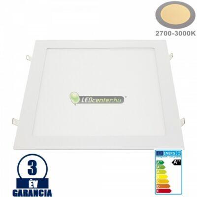 INTI 24W=192W négyz. fehér LED mennyezeti lámpa melegfehér 3évGar