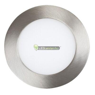 LOIS 6W kerek szatén króm LED mennyezeti lámpa melegfehér 2évG