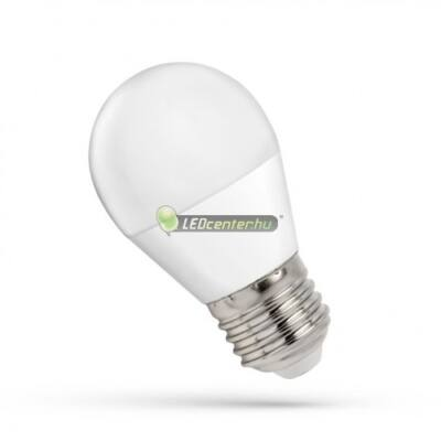 Spectrum 7W=49W E27 640 lumen LED kisgömb, hidegfehér