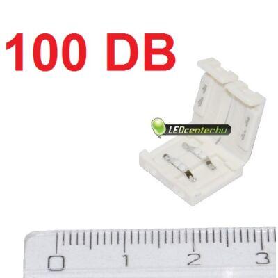 10 mm-es LED szalagokhoz forrasztásmentes toldóelem, 100 db