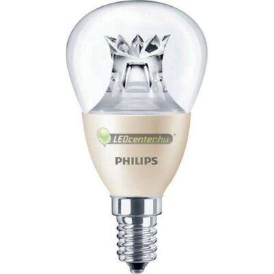 PHILIPS MASTER LED E14 6W=40W 470 lumen P48 szabályozható kisgömb, melegfehér 3évG