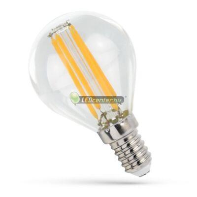 Spectrum Premium Clear COG 4W=41W E14 LED kisgömb izzó, melegfehér