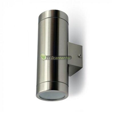 WAND-2 inox kerek kültéri fali lámpa 2xGU10, IP44