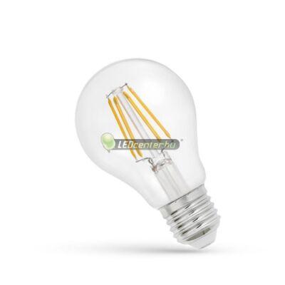 Spectrum Premium Clear COG 6W=56W E27 LED körte izzó, melegfehér
