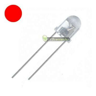 Ultrafényes LED dióda, 3 mm, piros