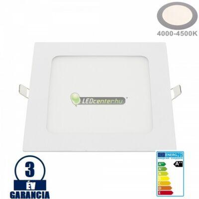INTI 18W=144W négyzet fehér LED mennyezeti lámpa természetes fehér 3évG