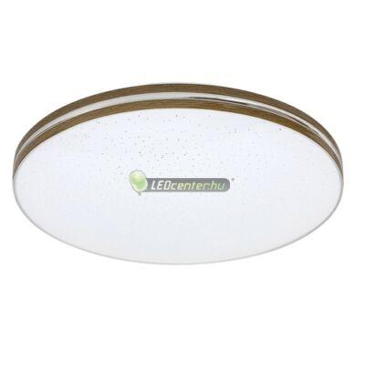 OSCAR LED 18W fehér/dió kerek mennyezeti lámpa, csillagos effekt, melegfehér 5évG