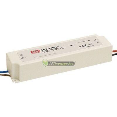 LPV-100-12 MEAN WELL stabilizált LED tápegység, 100W, 230V/DC12V