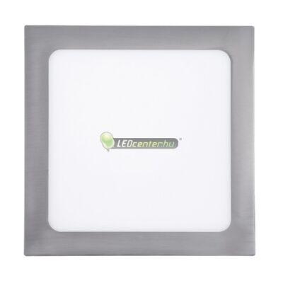 LOIS 18W négyzet szatén króm LED mennyezeti lámpa melegfehér 2évG